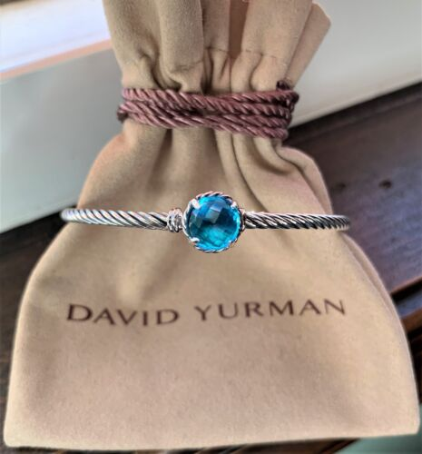 $350 David Yurman 925 Sterling Silver 8mm Chatelaine 3mm Cable Bracelets