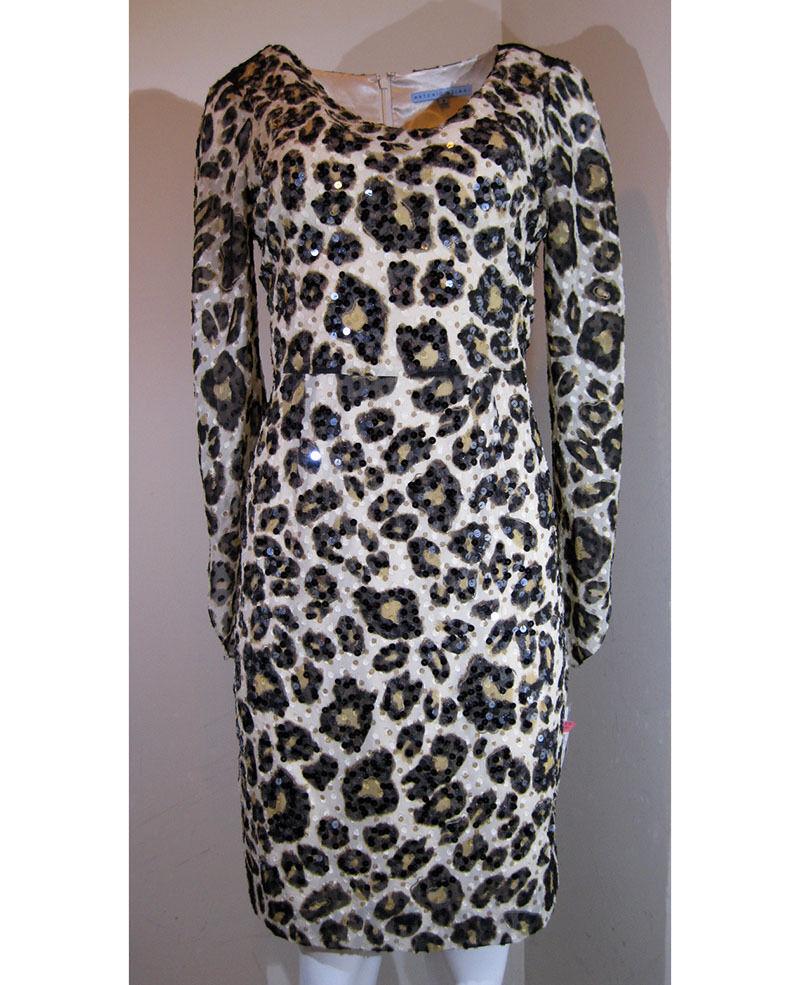 Antonio Melani 3 4 Sleeve Animal Print Shift Dress, Size-6