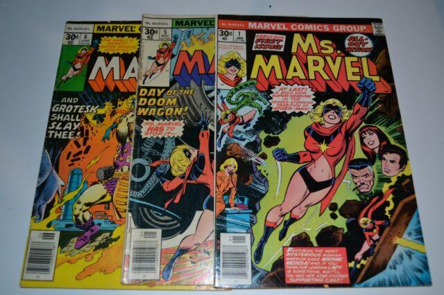 Marvel Comics Bronze Age Ms. Marvel #1 Lot Hot Seller***