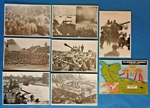 D-Day-Landings-Normandy-WW2-World-War-2-Postcard-Collection-of-8-June-1944