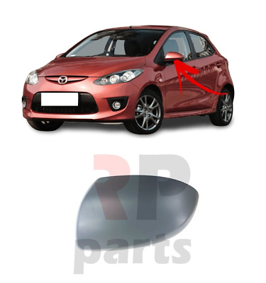 2007-2014 Right Driver Side Wing Mirror Glass For Mazda 2 III DE