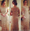 Champagne-Long-Sleeve-Bling-Mother-of-the-Bride-Dresses-Crystal-Beading-Formal thumbnail 1
