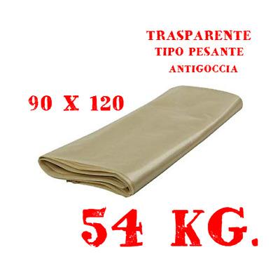 1KG 5 SACCHI SPAZZATURA PESANTI AMBRA//TRASPARENTI 90X120 IMMONDIZIA//RIFIUTI