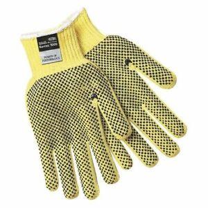 Mcr Safety 9376L Cut Resistant Coated Gloves, 3 Cut Level, Pvc, L, 12Pk