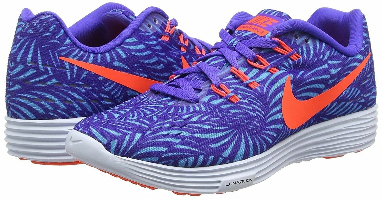NEW Nike femmes LUNARTEMPO 2 Print Persian Violet/Total Crimson-Gamma Bleu SALE