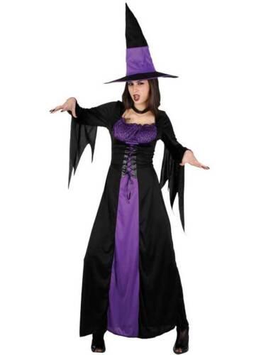Adult Spellbound Witch Fancy Dress Costume Halloween Horror Ladies Womens BN