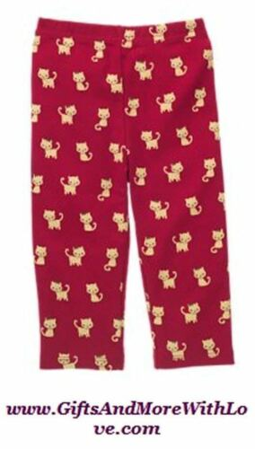 Gymboree NWT Fall Red GLAMOUR KITTEN KITTY CAT LEGGINGS DRESS BOTTOMS 3 6 Months