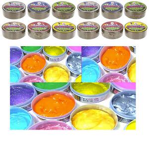 12-Rohre-Weiche-Glitzer-Gummi-Slime-Kitt-Kids-Party-Tasche-Strumpf-Fueller