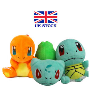 Pokemon-Plush-Toys-3-PCS-Pikachu-Bulbasaur-Squirtle-Charmander-Action-Set