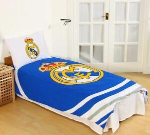 Detalles de Nuevo Real Madrid F. C. Football Club Oficial Simple Juego Colcha Edredón Niños