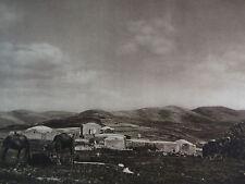 1925 SAMARIA HEROD'S PALACE RUINS Israel Shomron Levant West Bank Photogravure