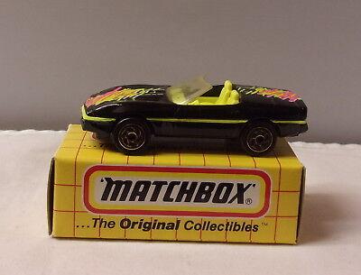 MJ7 Matchbox MB14-1987 Chevy Corvette Yellow Box Purple