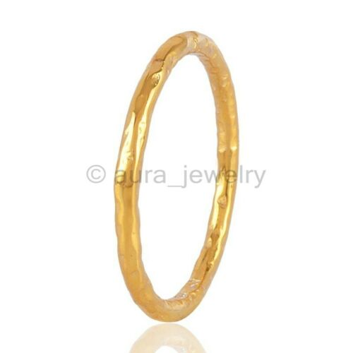 18K Gold Vermeil Sterling Silver Stackable Band Ring ANY SIZE 4 TO 12