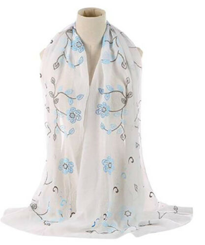 Ladies New Floral Leaf Print Scarves Scarf Wrap Sarong Shawl