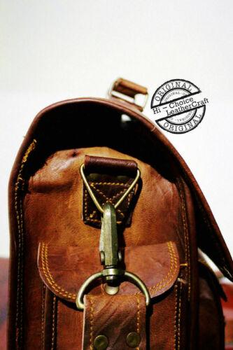 Vintage Men/'s Genuine Leather Briefcase Messenger Shoulder Bag Handbag Business