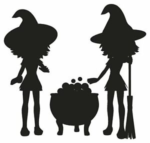 Witches-Halloween-Cauldron-Magic-Spells-Broom-Vinyl-Decal-Stickers-sma-SM7-43