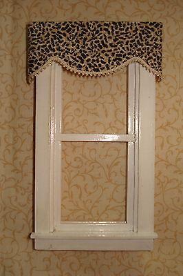 "Green Valance Dollhouse Curtains 3 /"" W x 1 1//4 /"" L"