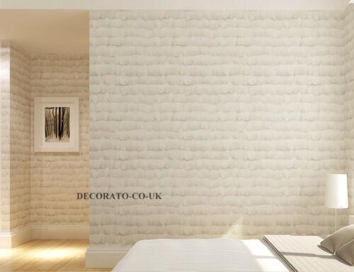 3D plume blanche Caractéristique Mur Papier Peint Art Art Deco Moderne Non Tissé murale Matt