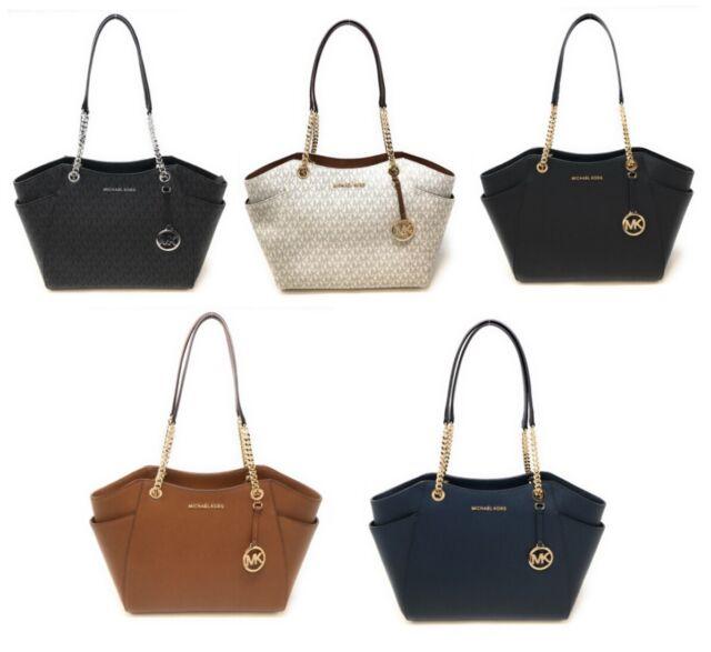Michael Kors Bag Handbag Jet Set Travel Chain Tote Bag Saffiano Pale Gold