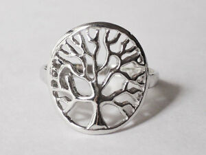Sovats-Solid-925-Sterling-Silver-Tree-of-Life-Ring-Women-Girls-Choose-Size-5-12