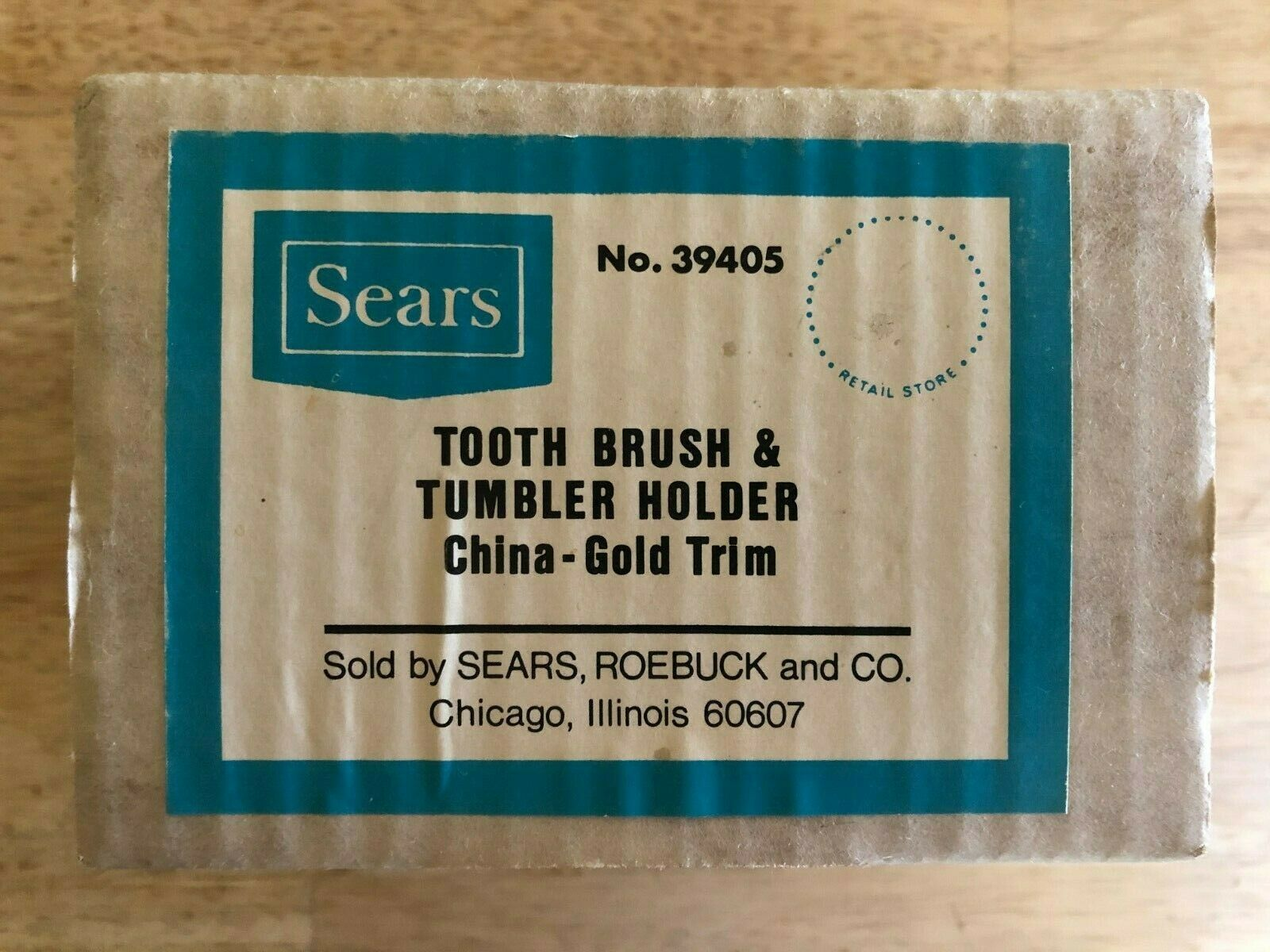 Sears - Toothbrush & Tumbler Holder - Porcelain - Wall Mounted New/Vintage 1971