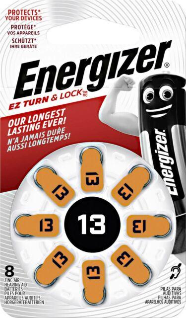 Energizer Hearing Aid PR48 Knopfzelle ZA 13 Zink-Luft 280 mAh 1.4V 8St.