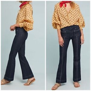 Anthropologie Retro 25 And High Flare Letterpress rise Jean Pilcro Woman Nieuw The sdCthQr