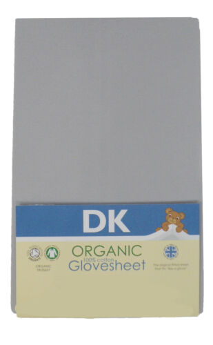 DK Glovesheets GOTS Certified Cotton Organic Fitted MJ Mark Crib Sheet 80x45cm