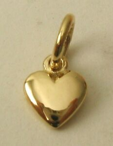 GENUINE-9K-9ct-SOLID-GOLD-SMALL-3D-LOVE-HEART-VALENTINE-CHARM-PENDANT