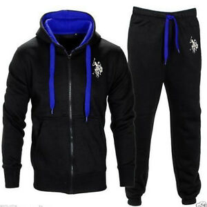 POLO-MEN-039-S-TRACKSUIT-SET-FLEECE-HOODIE-TOP-BOTTOMS-JOGGERS-GYM-TRACKIES-JOGGING