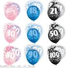 Glitz 13th-100th Milestone Birthday Party Pearlised LATEX Balloons 12