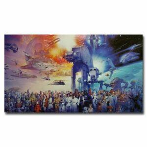 Star Wars Full Cast 12x21//24x42inch Movie Silk Poster Art Print Wall Decoration