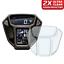 2-X-HONDA-AFRICA-TWIN-CRF1000L-2015-2017-salvaschermo-Dashboard-ULTRA-trasparente miniatura 1