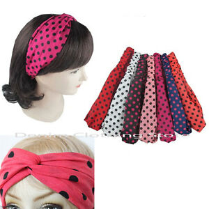 6pc Women Turban Twist Knot Head Wrap Headband Twisted Knotted Hair Band Workout