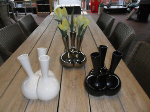 Set-of-3-Vases-in-3-Different-Colours-3-Interlocking-Vases-Black-Silver-or-White