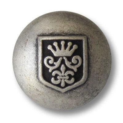0928sg 5 altsilberfb petrol grüne Wappen Metall Knöpfe für Blazer mit Krone