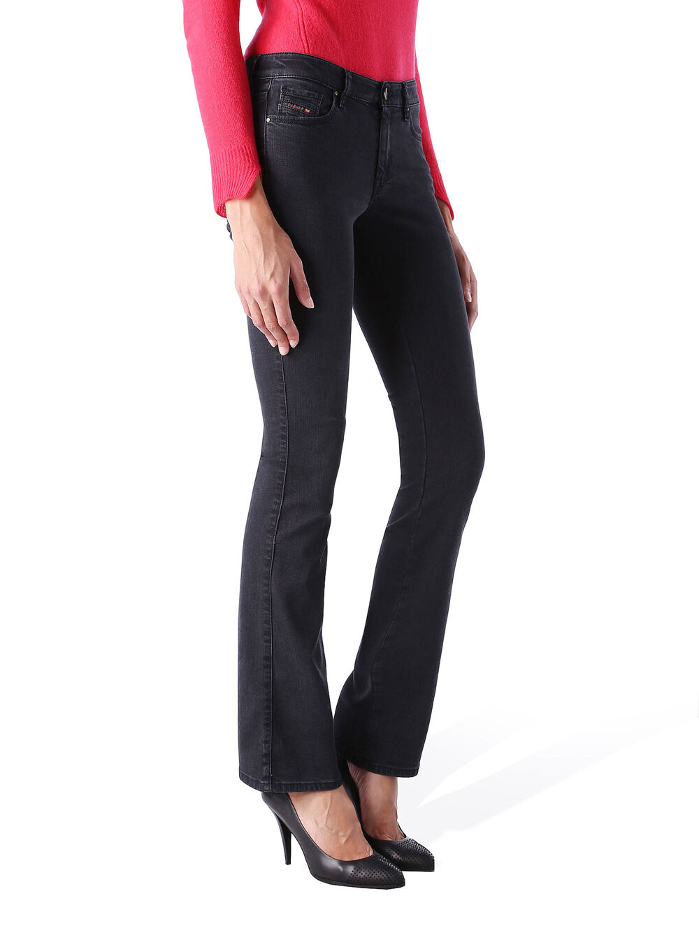 Diesel Doris-B 0668C Jeans Pantaloni women Super-Sottile Svasati