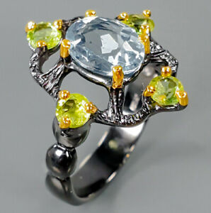 Fine-Art-Jewellery-Natural-Gemstone-Topaz-925-Sterling-Silver-Ring-RVS319