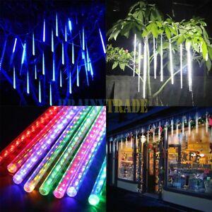 8-LED-Waterproof-Meteor-Shower-Rain-Drop-Icicle-Snow-Christmas-Tree-Tube-Light