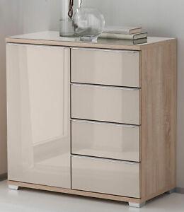 Details zu Staud Rubin Kommode mit Schubladen Schlafzimmer Kommode Glas in  vielen Farben