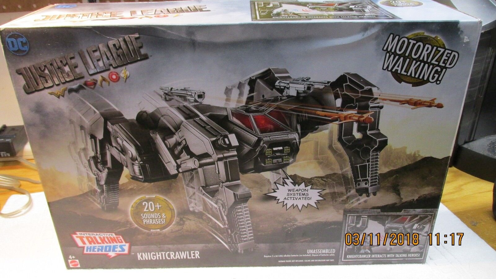 DC Justice League Talking Heroes Knightcrawler Vehicle NEW TALKING HEROES
