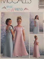 Sweet/simple Mccalls 9689 Girls Special Moments Dress Pattern 3-4-54-5-6 Uc