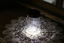 Solar Mason Jar Lid 10 LED Mason Jar Lights, White Fairy Light, Black Ring