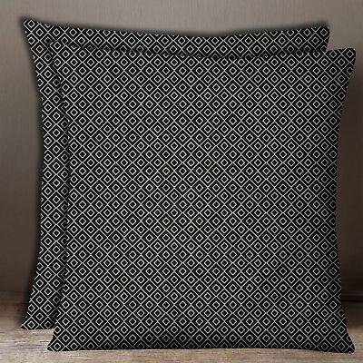 1-platz-pair-dunkelgrau Baumwoll-popeline Geometrischer Kissenbezug Home Decor Waren Des TäGlichen Bedarfs