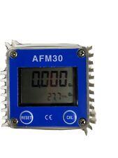 Afm30 Turbine Digital Diesel Fuel Flow Meter For Chemicals Water Blue
