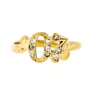 Ancien-de-Collection-14k-or-18ct-Mine-Diamant-Date-1907-Petite-Bypass-Bague