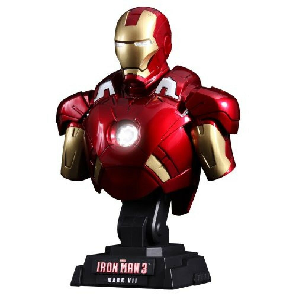 Hot Toys Bust Iron Man 3 1/4 scale bust Iron Man Mark 7 Action Figure
