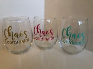 98b608b17f7 Image is loading Chaos-coordinator-stemless-wine-glass-perfect-gift-for-