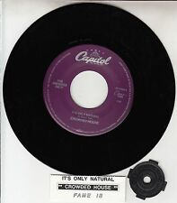 """CROWDED HOUSE  It's Only Natural 7"""" 45 record + juke box title strip NEW RARE!"""
