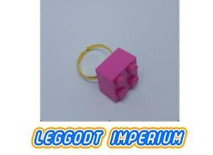 LEGO-Custom-Ring-Dark-Pink-Brick-Adjustable-FREE-POST